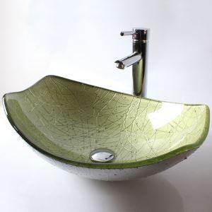 洗面ボール 手洗鉢 洗面器 強化ガラス製 排水金具付 オシャレ HAM148