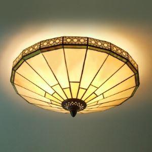 ティファニーライト シーリングライト ステンドグラスランプ 天井照明 2灯 BEH403716