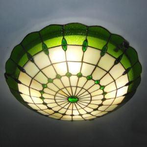 シーリングライト ステンドグラスランプ ティファニーライト 天井照明 30cm 1灯 BEH404125