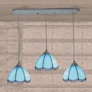 ペンダントライト ステンドグラスランプ 天井照明 リビング照明 欧米風 3灯 BEH4758