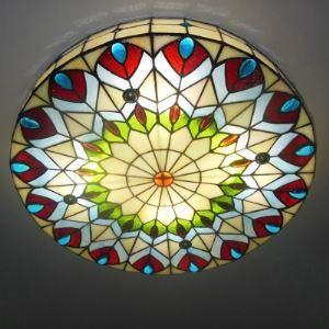 シーリングライト ステンドグラスランプ 天井照明 3灯 BEH403497
