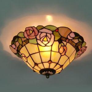 シーリングライト ステンドグラスランプ 天井照明 2灯 BEH402972