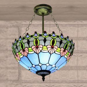 ペンダントライト ステンドグラスランプ 天井照明 リビング照明 欧米風 3灯 BEH4231