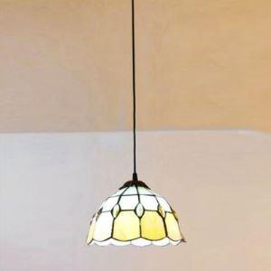 ペンダントライト ステンドグラスランプ ティファニーライト 天井照明 玄関照明 欧米風 1灯 BEH4132