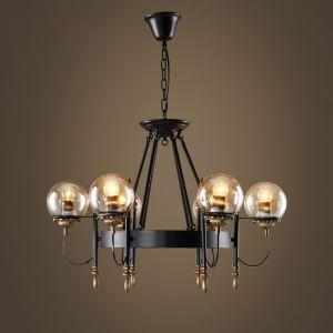 シャンデリア リビング照明 寝室照明 吹き抜け照明 北欧風 6灯