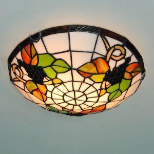 シーリングライト ステンドグラスランプ ティファニーライト 天井照明 2灯