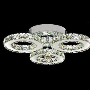 LEDシーリングライト 天井照明 照明器具 クリスタル  オシャレ 3灯