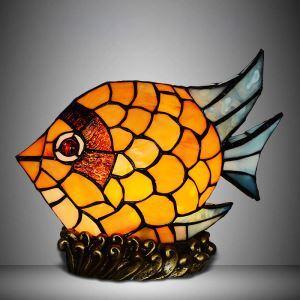 ステンドグラス テーブルランプ 卓上照明 間接照明 魚型 1灯 BEH403573