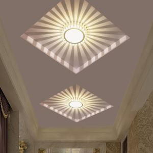 LEDシーリングライト 天井照明 玄関照明 埋込み式 拡散光 3W