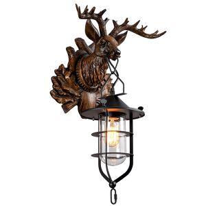 壁掛けライト ウォールランプ 玄関照明 階段照明 鹿頭型 1灯 CYBD108