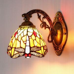 壁掛けライト ステンドグラスランプ ウォールランプ 照明器具 トンボ柄 1灯 BEH275531