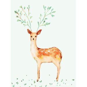 【大人の塗り絵】数字絵画 DIY手描き絵画 塗り絵 ハンドメイド油絵 絵具セット 鹿 40*50