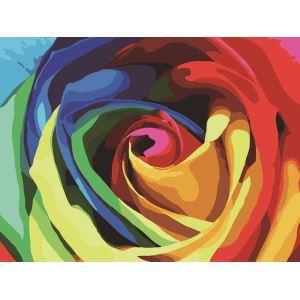 【大人の塗り絵】数字絵画 DIY手描き絵画 塗り絵 ハンドメイド油絵 絵具セット 虹 30*40