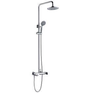 浴室シャワー水栓 レインシャワーシステム バス水栓 ヘッドシャワー+ハンドシャワー+蛇口 混合栓 クロム 011