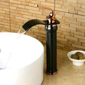 バス水栓 洗面蛇口 混合水栓 水道蛇口 浴室用 真鍮製 黒色 BL0602HB