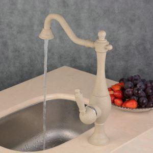 台所蛇口 キッチン蛇口 冷熱混合栓 真鍮製 塗装 BL2801K