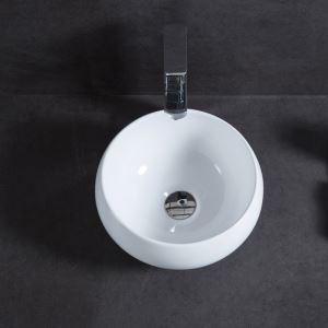 手洗い鉢 洗面ボウル 手洗器 洗面ボール 洗面台 陶器 丸型 置き型 排水栓&排水トラップ付 32cm