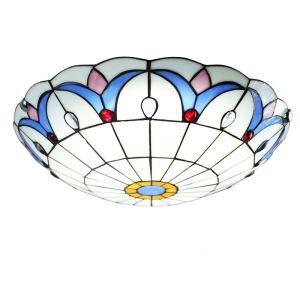 シーリングライト ステンドグラスランプ ティファニーライト 天井照明 3灯 D50cm