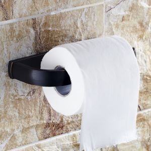 トイレットペーパーホルダー 紙巻器 トイレ用品 浴室収納 真鍮製 ヴィンテージ 黒色
