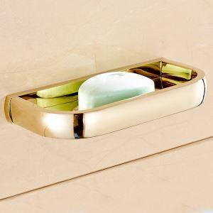 石鹸ホルダー 浴室ソープディッシュホルダー 石鹸置き 洗面所用品 真鍮製 Ti-PVD