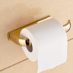 トイレットペーパーホルダー 紙巻器 トイレ用品 浴室収納 真鍮製 Ti-PVD