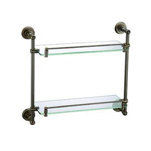 シェルフ 化粧棚 ガラス棚 浴室棚 バス用品 浴室収納 真鍮製 アンティーク調