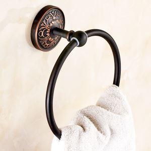 タオル掛け 浴室タオルリング タオル収納 バスアクセサリー アンティーク調 ORB SWA040