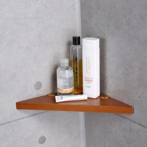シェルフ 化粧棚 浴室棚 バス用品 浴室収納 高分子木材製 エコ 北欧風