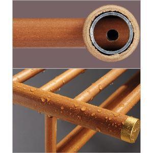 バスアクセサリーセット タオルラック&ペーパーホルダー&トイレブラシホルダー 収納 高分子木材製
