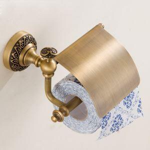 トイレットペーパーホルダー 紙巻器 トイレ用品 浴室収納 真鍮製 ブラス色