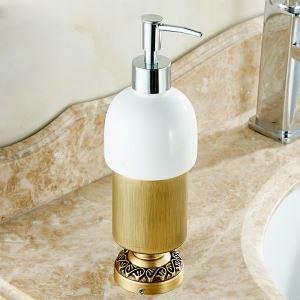 浴室ソープディスペンサーホルダー ソープボトル 洗面所用品 真鍮製 ブロンズ