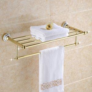 浴室タオルラック タオル掛け タオル収納 壁掛けハンガー バスアクセサリー Ti-PVD 金色 LWA080