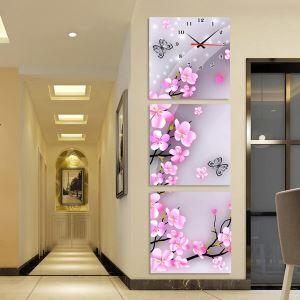 壁掛け時計 壁絵画時計 静音時計 壁飾り オシャレ 3枚パネル 横/縦