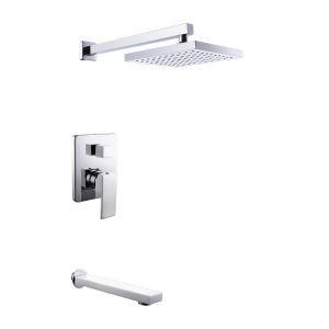 埋込形シャワー水栓 レインシャワーシステム バス蛇口 ヘッドシャワー 蛇口付き 混合栓 クロム