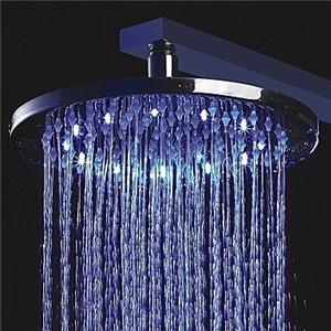 3色LEDヘッドシャワー シャワー水栓 温度センサー付き 25cm