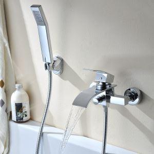 浴室シャワー水栓 バス蛇口 ハンドシャワー 混合水栓 蛇口付き 風呂用 クロム M5030CWI
