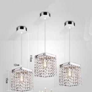 【送料無料】ペンダントライト 照明器具 玄関照明 天井照明 オシャレ クリスタル 1灯 HL014