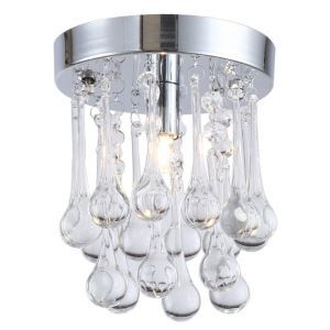 【送料無料】シーリングライト 照明器具 玄関照明 天井照明 オシャレ クリスタル 水滴型 1灯 HL017