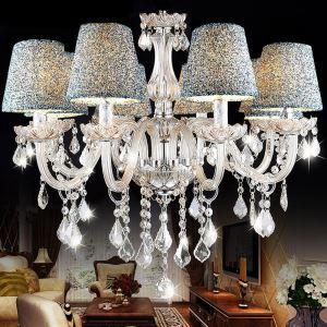 シャンデリア クリスタル リビング照明 寝室照明 店舗照明 オシャレ 8灯 LED電球対応