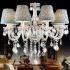 シャンデリア K9照明器具 リビング照明 寝室照明 店舗照明 オシャレ クリスタル シェード付 8灯 LED電球対応 LT525318