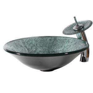 洗面ボウル&蛇口セット 洗面器 手洗い器 洗面ボール 排水金具付 オシャレ 清雅 HAM0056