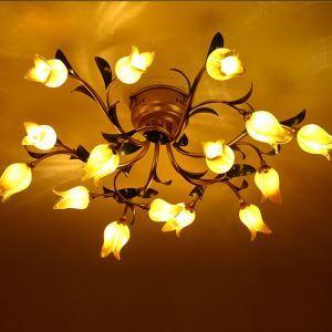 LEDシーリングライト LED瑠璃照明 店舗照明 チューリップ 15灯 LED対応 RI006