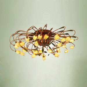 LEDシーリングライト LED瑠璃照明 リビング照明 チューリップ 38灯 LED対応 RI009