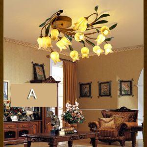 LEDシーリングライト 照明器具 リビング照明 店舗照明 寝室照明 瑠璃 ボヘミア風 15灯 LED対応 RI015