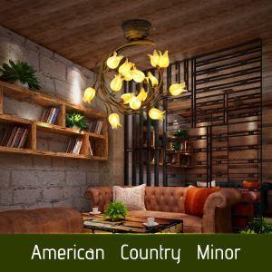 LEDシーリングライト リビング照明 店舗照明 瑠璃照明 チューリップ 15灯 LED対応 RI022