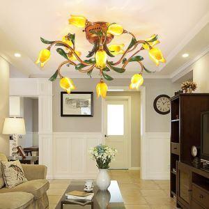 LEDシーリングライト 照明器具 リビング照明 店舗照明 寝室照明 瑠璃 ボヘミア風 12灯 LED対応 RI031