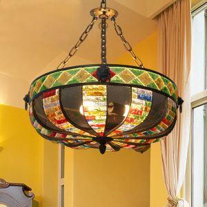 ペンダントライト 照明器具 リビング照明 店舗照明 寝室照明 彩色瑠璃 ボヘミア風 3灯 RI10260BD