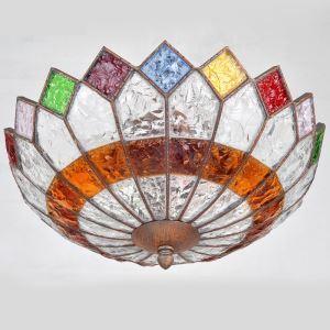 シーリングライト 天井照明 インテリア照明 リビング照明 彩色瑠璃照明 ボヘミア風 3灯 RIHP012