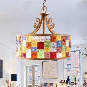 ペンダントライト 照明器具 リビング照明 店舗照明 寝室照明 彩色瑠璃 ボヘミア風 3灯 D40cm RI80899A