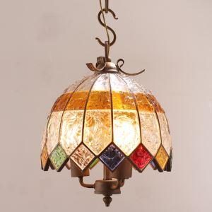 ペンダントライト 天井照明 照明器具 リビング照明 彩色瑠璃照明 ボヘミア風 2灯 D30cm RI807863A